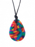 Raindrop Pendant - 'Rainbow' (multicolour mix) - Chewigem